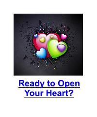 colourful hearts on dark background
