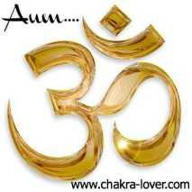 gold Om symbol