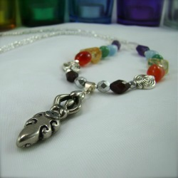 chakra stones goddess necklace