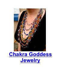 woman wearing chakra necklace