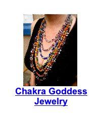 woman wearing chakra necklace