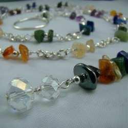 chakra stones lariat