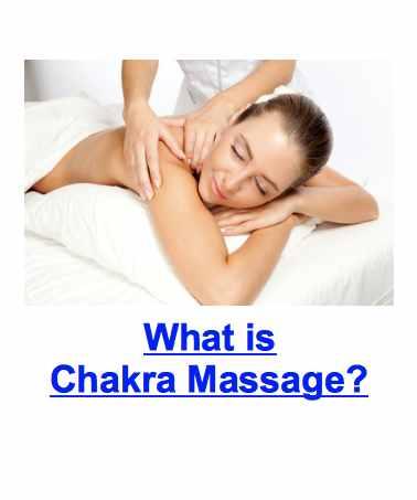 woman receiving massage chakras