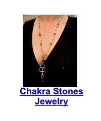 woman weaing 7 chakra stones