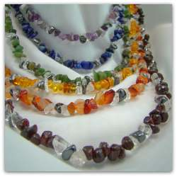 chakra stones statement necklace