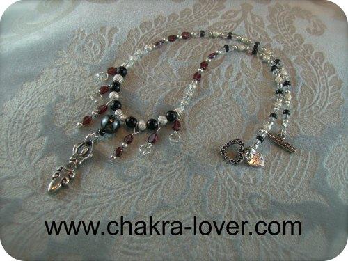 garnet goddess necklace