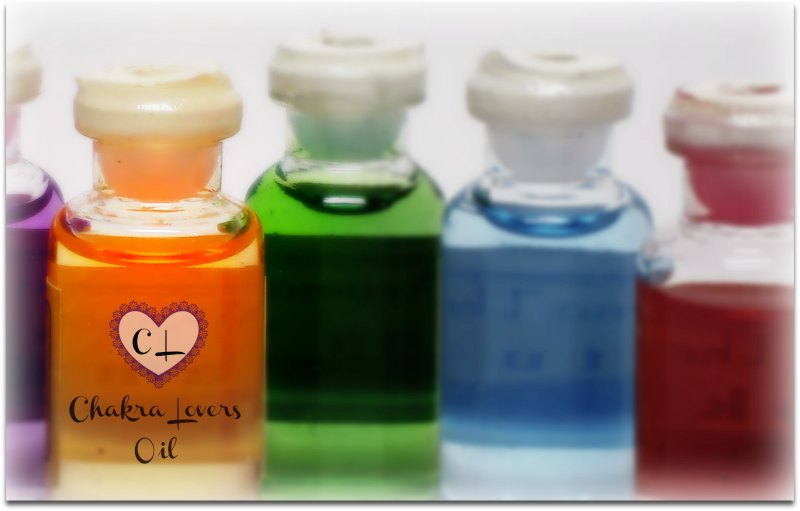colored bottles of oil